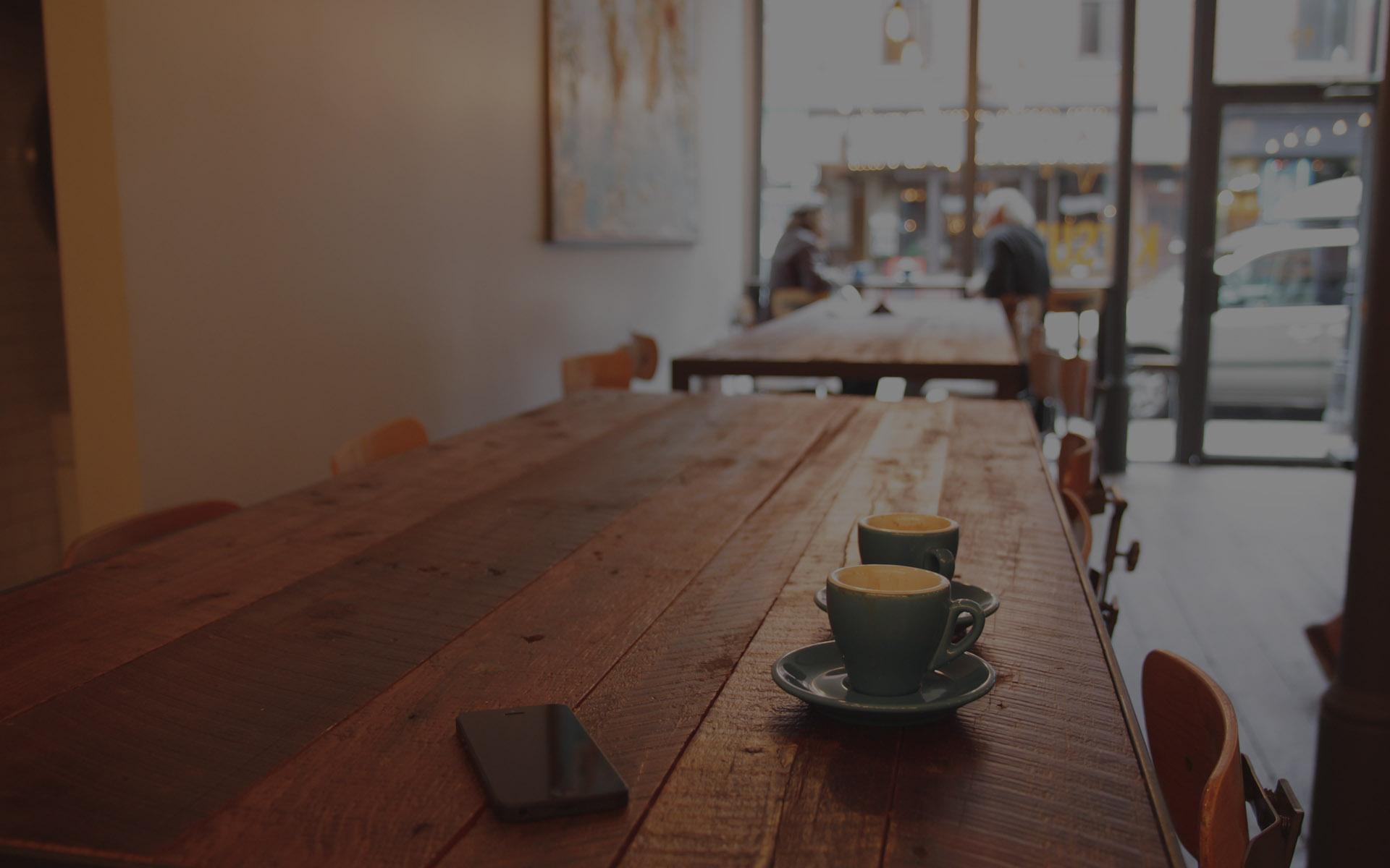 Een heerlijke kop koffie